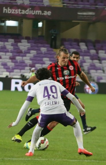 Alex Meier showing two goals vs. Al Ain. The SGE won with 3:1.