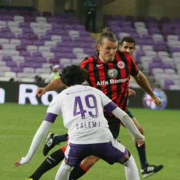 Alex Meier showing two goals vs. Al Ain. The SGE won with 3:1.
