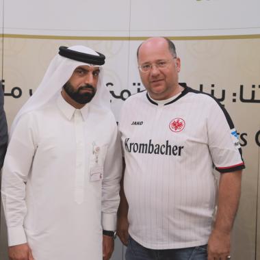 Ali Omer, Directot of Sports Development Department, Dubai Sport Council ©EFC Bembel Beduinen