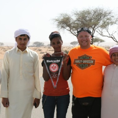 With locals in Ras al Khaimah