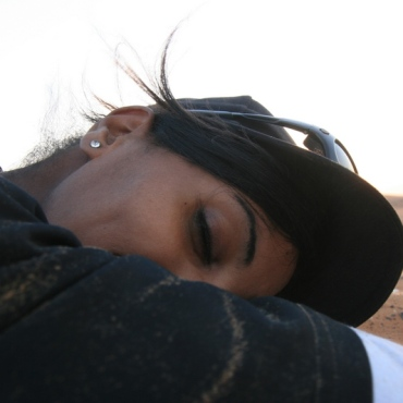 She has sweet dreams about our SGE in the desert, too :-)