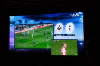 The parallel match Swansea vs. Tottenham