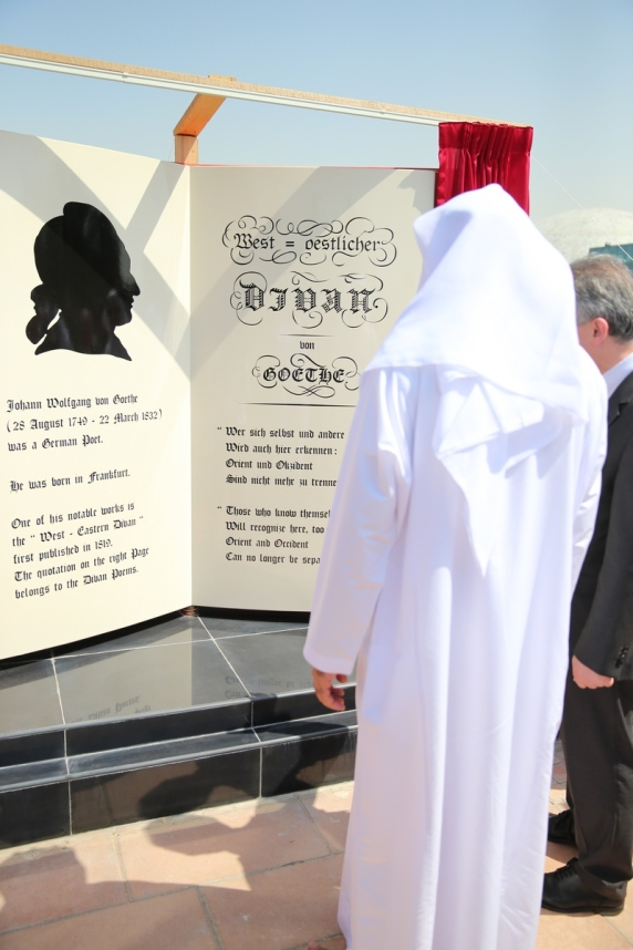 Inauguration of the Goethe monument