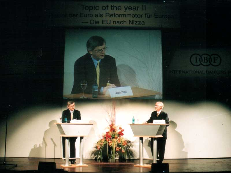 Jean-Claude Juncker and Dieter Balkhausen
