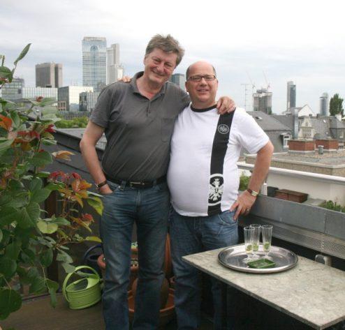 Ehrenmitglied Johnny Klinke mit Bedupräsi Dr. Andreas