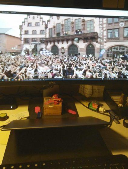 So sah der Schreibtisch während des Empfanges aus ©EFC Bembel Beduinen