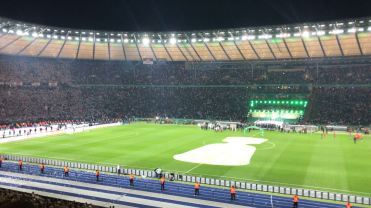 Das Berliner Olympiastadion beim Pokalendspiel