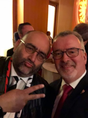 Bedu Omid (Nouripour, MP) and Bedu Friedrich in Berlin as we won the Cup!