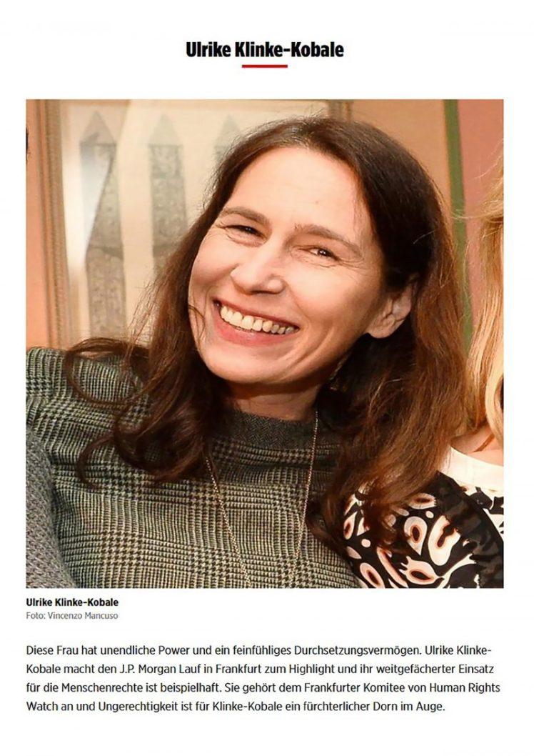Ulrike Klinke-Kobale als Charity Lady