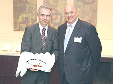 Peter Feldmann, Lord Mayor, Frankfurt am Main ©EFC Bembel Beduinen